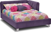 Kids Furniture-Taylor Purple Full Corner Bed