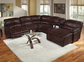 Living Room Furniture-The St. Malo III Collection-St. Malo III 6 Pc. Power Reclining Sectional