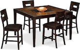 Dining Room Furniture-Blake II 5 Pc. Counter-Height Dinette