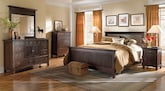 Bedroom Furniture-The Wentworth Dark Collection-Wentworth Dark Queen Bed