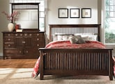 Bedroom Furniture-Wentworth Dark 5 Pc. Queen Bedroom