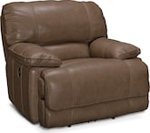 Living Room Furniture-Clinton Taupe Power Recliner