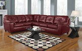 Living Room Furniture-The Garrett Cardinal Collection-Garrett Cardinal 2 Pc. Sectional
