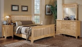 Bedroom Furniture-The Wentworth Light Collection-Wentworth Light Queen Bed