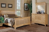 Bedroom Furniture-Wentworth Light 5 Pc. Queen Bedroom