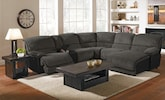 Living Room Furniture-The Barbosa Steel Collection-Barbosa Steel 6 Pc. Power Reclining Sectional