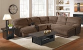 Living Room Furniture-The Barbosa Camel Collection-Barbosa Camel 6 Pc. Power Reclining Sectional