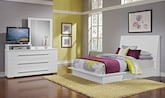 Bedroom Furniture-Prima II White 5 Pc. King Bedroom