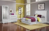 Bedroom Furniture-Prima II White 5 Pc. Queen Bedroom (Alternate)