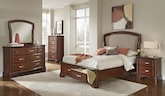 Bedroom Furniture-The Hawthorne Collection-Hawthorne Queen Storage Bed