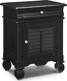 Kids Furniture-Magnolia Black Door Nightstand
