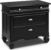 Kids Furniture-Magnolia Black Drawer Nightstand