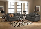 Living Room Furniture-The Adrian Graphite Collection-Adrian Graphite Sofa