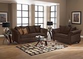 Living Room Furniture-The Perry Chocolate Collection-Perry Chocolate Sofa
