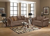 Living Room Furniture-The Perry Taupe Collection-Perry Taupe Sofa