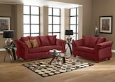 Living Room Furniture-The Adrian Red Collection-Adrian Red Sofa