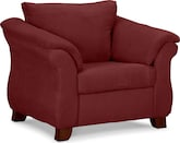 Living Room Furniture-Adrian Red Chair