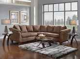 Living Room Furniture-The Perry II Taupe Collection-Perry II Taupe 2 Pc. Sectional