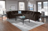 Living Room Furniture-The Brookside II Chocolate Collection-Brookside II Chocolate 2 Pc. Sectional