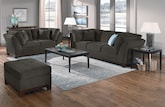 Living Room Furniture-The Solace Gray Collection-Solace Gray Sofa