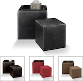 New Nesting Ottomans - Furniture.com - TheTania Collection