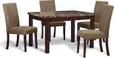 Dining Room Furniture-Baldwin 5 Pc. Dinette