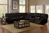 Living Room Furniture-The Ralston Chocolate Collection-Ralston Chocolate 3 Pc. Power Reclining Sectional