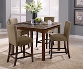 Dining Room Furniture-The Baldwin II Collection-Baldwin II Counter-Height Table