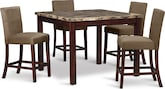 Dining Room Furniture-Baldwin II 5 Pc. Counter-Height Dinette