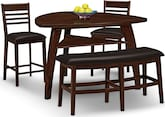 Dining Room Furniture-Lucas 4 Pc. Counter-Height Dinette