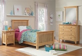 Kids Furniture-Wentworth II Light 6 Pc. Twin Bedroom