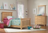 Kids Furniture-Wentworth II Light 5 Pc. Twin Bedroom