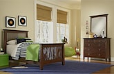 Kids Furniture-Wentworth II Dark 5 Pc. Twin Bedroom