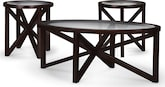 Accent and Occasional Furniture-Starburst 3-Pack Tables