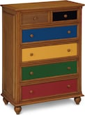 Kids Furniture-Colorworks Pine Chest