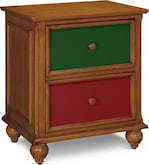 Kids Furniture-Colorworks Pine Nightstand