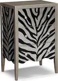 Accent and Occasional Furniture-Zebra Accent Chest