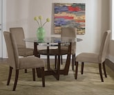 Dining Room Furniture-The Alcove Beige Collection-Alcove Table