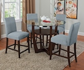 Dining Room Furniture-The Alcove Aqua II Collection-Alcove II Counter-Height Table