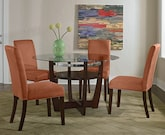Dining Room Furniture-The Daly Orange Collection-Daly Table