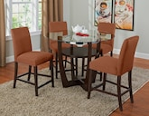 Dining Room Furniture-The Daly II Orange Collection-Daly II Counter-Height Table
