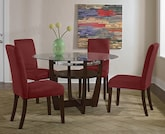Dining Room Furniture-The Alcove Red Collection-Alcove Table