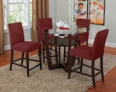 Dining Room Furniture-The Daly II Red Collection-Daly II Counter-Height Table