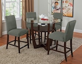 Dining Room Furniture-The Alcove Sage II Collection-Alcove II Counter-Height Table