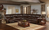 Living Room Furniture-The Jackson Chocolate Collection-Jackson Chocolate 3 Pc. Reclining Sectional