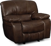 Living Room Furniture-Jackson Chocolate Glider Recliner