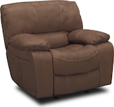 Living Room Furniture-Jackson Mocha Glider Recliner