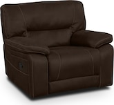 Living Room Furniture-Durango Saddle Glider Recliner