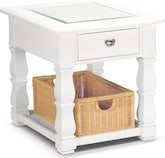 Accent and Occasional Furniture-Magnolia White End Table