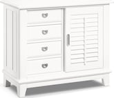 Accent and Occasional Furniture-Magnolia White Sliding Door Chest